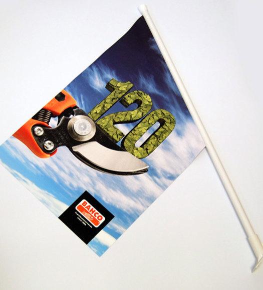 Fasadeflagg med trykk