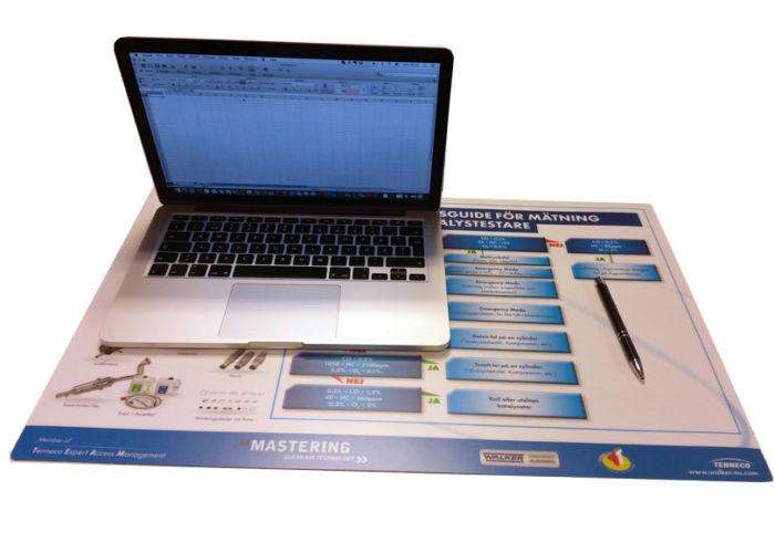 Skrivebordsmatte med eget trykk